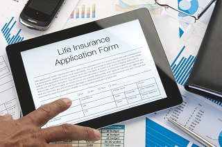image of life insurance application