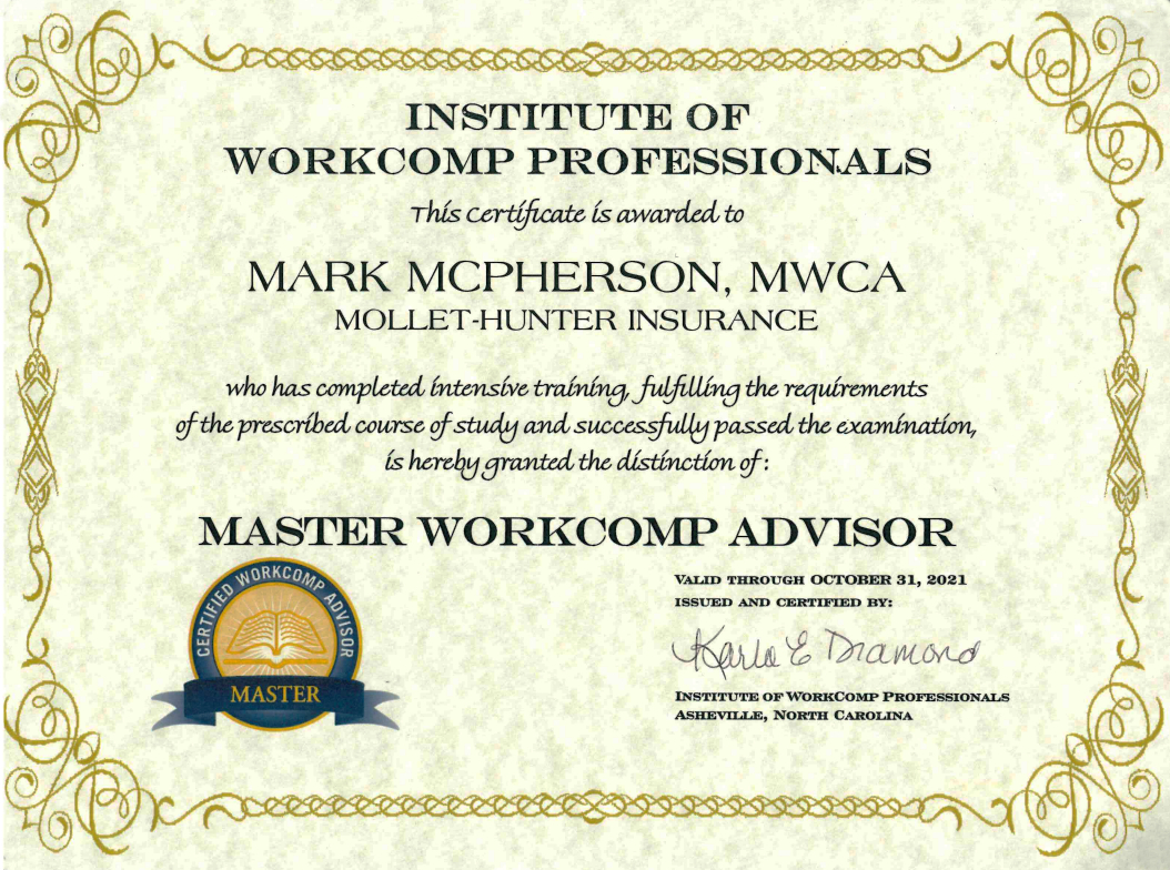 institute of workecomp professionals certification